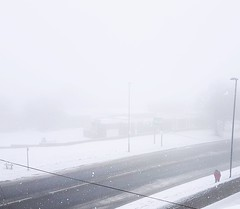 Snow and fog together (aaronhicks678) Tags: snow fog rain ice weather tong street road pub