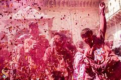 Boisterous Boys (Shikher Singh) Tags: holi vrindavan colours festival celebration joy happiness together red petals boys kids jumping shikher'simagery