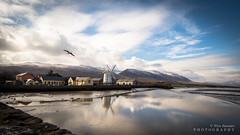 The Windmill (P i a :)) Tags: ireland irishlandscape irishseascape landscapephotography landscape kerry blennerville windmill snow mountain traleebay