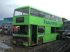 CUL193V Barnsley 2009 (MCW1987) Tags: barnsley scrap bus former bright leyland titan london transport t193 cul193v