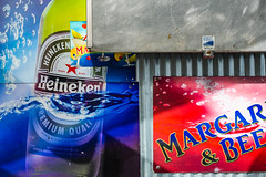 Beer On The Pier (jshyshka) Tags: beer margarita colorful fuji fujifilm xpro2 digital wall ad