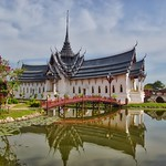 Replica of Sanphet Prasat palace from Ayutthaya in Muang Boran, Samut Phrakan, Thailand thumbnail