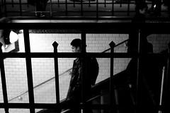 Paris, Metro, Night (Lepidoptorologic beauty*) Tags: pentax kp pentaxkp pentaxk night paris metro hd da 40mm 28 40 da40mm hdda40 hdda40mm hdda40mm28 blackwhite nb