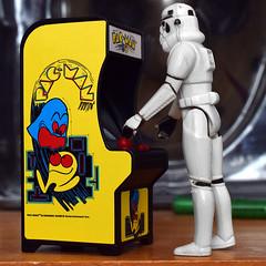 Stormtrooper Playin' Pac-Man (beefysnardlebean) Tags: pacman stormtrooper