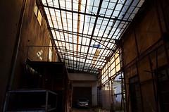 Skylight (Eric Flexyourhead) Tags: koenji 高円寺 suginami suginamiku 杉並区 tokyo 東京 japan 日本 city urban building garage skylight rundown decay ricohgr