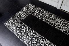 Tilework (SINGAPORE) (ID Hearn Mackinnon) Tags: tiles tilework singapore singaporean style south east asia asian 2017 front doorstep motifs design architecture black white floor ceramic joon chiat district street house home