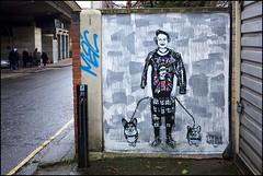 Punk Liz - DSCF9836a (normko) Tags: london west westway ladbroke grove graffiti stray aerosol paint stencil queen elizabeth corgi stra street art wall mural jubilee