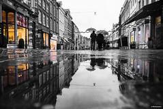 Umbrella (metsemakers) Tags: roermond water rain umbrella paraplu refections black white sony nex