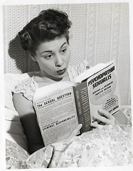 Interesting Reading Material (Roamer61) Tags: mother vintage 1940s family historic