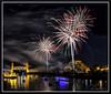 Fireworks_9043 (bjarne.winkler) Tags: 2017 new year firework over sacramento river with tower bridge ziggurat building background