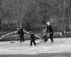 deep January (jwayne810) Tags: pond ice washingtonpark boys hockey cold