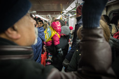 Subway School Bus (cookedphotos) Tags: 2018inpictures toronto ontario canada canon 5dmarkiv streetphotography ttc subway train child baby sleep tired asleep father dad parent love family commute urban 365project p3652018