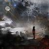 Fire and Ice and The Heavens Above (Cheryl Razmus) Tags: awake photoshop digitalart winterscenes lighteffects lightanddark moonlight