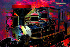 THE LAST TRAIN TO ..... (Viktor Manuel 990.) Tags: train tren digitalart artedigital surrealism surrealista querétaro night noche méxico victormanuelgómezg brightcolors coloresbrillantes