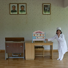 North Korean teacher under the official portraits of the Dear Leaders in a classroom in Kim Jong suk school, Pyongan Province, Pyongyang, North Korea (Eric Lafforgue) Tags: adult asia classmates communism dictatorship dprk education elementary elementaryage elementaryeducation elementaryschool humanrepresentation kimilsung kimjongsuk kimjongil knowledge learning nkorea1603 northkorea occupation officialportraits oneperson onewomanonly people politicians pyongyang school squarepicture studying teacher teaching woman women pyonganprovince 北朝鮮 북한 朝鮮民主主義人民共和国 조선 coreadelnorte coréedunord coréiadonorte coreiadonorte 조선민주주의인민공화국 เกาหลีเหนือ קוריאההצפונית koreapółnocna koreautara kuzeykore nordkorea північнакорея севернакореја севернакорея severníkorea βόρειακορέα