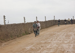 North Korean women cycling along a fenced road, North Hamgyong Province, Chilbosan, North Korea (Eric Lafforgue) Tags: asia asianethnicity barbedwire bicycle chilbo communism copyspace countryside cycling dictatorship dprk fence fencing groupofpeople horizontal humanbeing mudtrack muddy nk111688 northkorea northkorean outdoors protection riding road rural seawall transport traveldestinations twopeople wall women womenonly chilbosan northhamgyongprovince 北朝鮮 북한 朝鮮民主主義人民共和国 조선 coreadelnorte coréedunord coréiadonorte coreiadonorte 조선민주주의인민공화국 เกาหลีเหนือ קוריאההצפונית koreapółnocna koreautara kuzeykore nordkorea північнакорея севернакореја севернакорея severníkorea βόρειακορέα