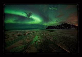 Skagsanden Aurora , Lofoten, Artic Norway