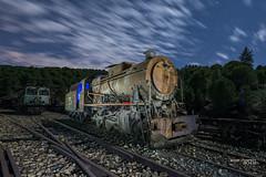 El óxido del tiempo_J8H2188 (José Martín-Serrano) Tags: nocturna noche locomotora tren riotinto minas huelva oxido tiempo viejo nubes cielo