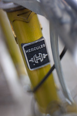 Hercules (suzanne~) Tags: bike bicycle detail german headbadge hercules lensbaby sweet35 project 100bicycles steuerkopfemblem steuerkopfschild