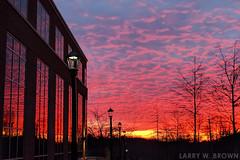 LOOKING GLASS (Larry W Brown) Tags: sunrise phonepic charlottesville virginia northridgemedicalpark uvaimaging universityofvirginiahealthsystem lgenexus5x lookingglass smartphonephoto