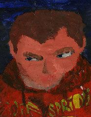 Self-portrait painted collage (al-worthy) Tags: distorted surrealism selfportrait face offspring young collage hoody hallofmirrors cuttings