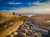 Amroth Beach, Pembrokeshire, Wales. (hemlockwood1) Tags: pebbles seascape sea sand groyne pembrokeshire wales wood shore seaweed