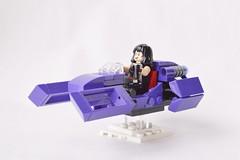 Dash Mk. VIII Speeder Bike (GeekPerson) Tags: lego hover bike flying floating future futuristic speeder space minifigure purple moc geekperson