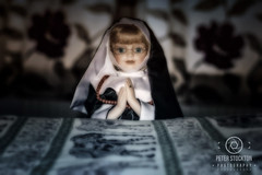 pray (kapper22) Tags: doll pray photoshop indoors bed nun curtains spritual effects fun