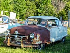 Rusty 1951? Nash Rambler (J Wells S) Tags: 1951nashrambler abandoned rust rusty junk nash crusty route66 themotherroad i44 hwymm lebanon missouri twodoorsedan