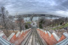 #192 (mariopolicorsi) Tags: mariopolicorsi canon eos 700d fisheye samyang 8mm europa europe ungheria hungary budapest city citylife cityscapes funicolare hdr hdrawards simplysuperb photoshop photomatix inverno winter dicembre december sky viaggio travel tree train water road