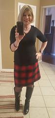 Back to Norm by Request (krislagreen) Tags: crossdresser cd transgender tg woolskirt hose highheels boots dressboots femme feminzation femminized