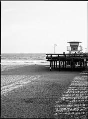 Edge of Pier (greenschist) Tags: california usa porthueneme zenzanonrf100mmf45 blackwhite bronicarf645 berggerpancro400 analog film