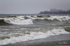 January Surf (wilbias) Tags: coastline wave surf beach seascape waters edge waves confederation park skyway hamilton ontario canada lake windy cloudy winter