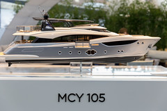 Modell der Monte Carlo Yachts 105 - Boot Düsseldorf 2018 (marcoverch) Tags: 2018 germany messe düsseldorf boot noperson keineperson vehicle fahrzeug transportationsystem transportsystem travel reise outdoors drausen water wasser leisure freizeit watercraft wasserfahrzeug luxury luxus yacht motorboat motorboot boat ship schiff recreation erholung sea meer car auto daylight tageslicht summer sommer fast schnell fairweather schöneswetter aircraft sigma contrast railroad mono boats airplane kodak streetart eos modell montecarloyachts105 bootdüsseldorf2018 mcy105