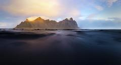 Vestrahorn colours (Arnaud Grimaldi) Tags: stokksnes vestrahorn iceland islande black sand january pano panoramic