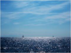 serenity (kurtwolf303) Tags: amalfi ocean water sea sky clouds blue blau italy italia italien segelboote sailboats olympus em1 omd microfourthirds micro43 systemcamera mirrorlesscamera seascape mft kurtwolf303 horizont horizon 250v10f 500v20f