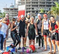 Fellow swimmers in the Boost Bahrain open water swim.