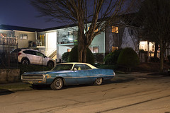 '71 Chrysler (Curtis Gregory Perry) Tags: portland oregon 1971 71 chrysler 300 three hundred night coupe blue white vinyl top old classic vintage collector car auto automobile nikon d810 pdx northwest vehicle long exposure