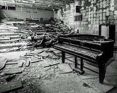 Pripyat School of Music - Chernobyl (Craig Hannah) Tags: pripyat chernobylnuclearpowerstation chernobyl zoneofalienation abandoned derelict decay derelectbuilding radioactivecontamination 30kilometrezone exclusionzone disaster accident nucleardisaster craighannah 2017 september ukraine music musicschool piano bw ghosttown