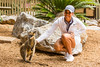 Cheyenne Woods of the USA and a wallaby during a trip to the National Zoo and Aquarium in Canberra (Ladies European Tour) Tags: woodscheyenneusa canberra act australia aus