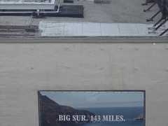 A15912 / yet another view from the sfmoma (janeland) Tags: sanfrancisco california 94103 sfmoma view sign text bigsur143miles selectivedesaturation rooftop june 2017