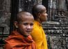 Ta Prohm Monks (minus6 (tuan)) Tags: minus6 d810 85mm taprohm siemreap cambodia mts
