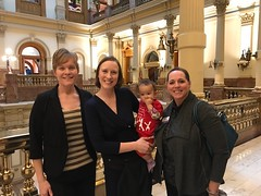 Christine with Lafayette city council members Jamie Harkins and Stephanie Walton at the state Capitol