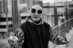 Wanna Free Margarita?? (Ian Sane) Tags: ian sane images wannafreemargarita las vegas strip street hustler man sunglasses portrait coupons nevada streetphotography black white monochrome canon eos 5ds r camera ef50mm f14 usm lens