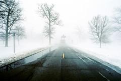 R1-050-23A (elsuperbob) Tags: detroit michigan belleisle snow fog emptyspaces statue memorial monument fujiflm superia800 fujisuperia800 canona1 majorgeneralalpheusstarkeywilliams
