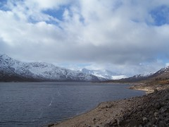 Loch Cluanie, Highlands of Scotland, Feb 2018 (allanmaciver) Tags: loch cluanie highlands scotland hydro scheme water grey clouds edge low light snow mountains allanmaciver