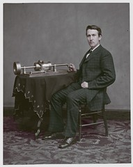 Thomas Edison resize edit (rob.vndnB) Tags: the library congress colorization brady handy colorized people portrait photo photogragh photographs picture public old rvndnb american archives border glass looking light image wet collodion negative negatives print year 1880