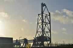 Demontage Botlekbrug (Hugo Sluimer) Tags: portofrotterdam port haven vlaardingen zuidholland hoogwater onzehaven nederland holland nlrtm nl