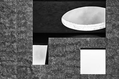 Geometry (laga2001) Tags: geometric black white architecture modern contemporary minimalism forms circle square grey bnw shape pattern structure building urban blacknwhite pretty opening concrete monochrome