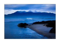 Rum and ice (tiggerpics2010) Tags: scotland arisaig rumcuillin coastline painterly